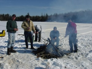 Cookout on Bog Lake a few years back.